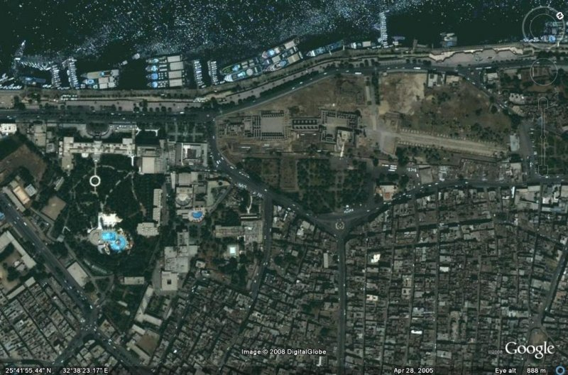 Ancient Luxor Satellite Map Of Luxor Corniche Luxor At Its Best - Best aerial maps